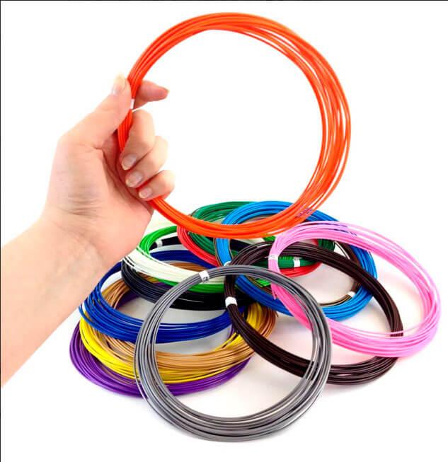 15 цветов пластика ABS по 10 метров